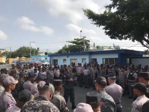 Foto 1. General Pablo A. Pujols instruye agentes del Distrito Nacional