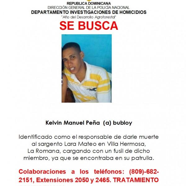 Se Busca-Kelvin Manuel Peña (a) bubloy
